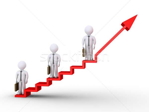 üzletemberek áll lépcsősor siker 3D különböző Stock fotó © 6kor3dos