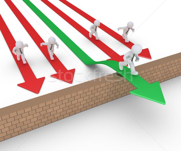 Businessman on arrow wins others Stock photo © 6kor3dos