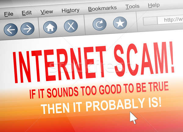 Internet scam. Stock photo © 72soul