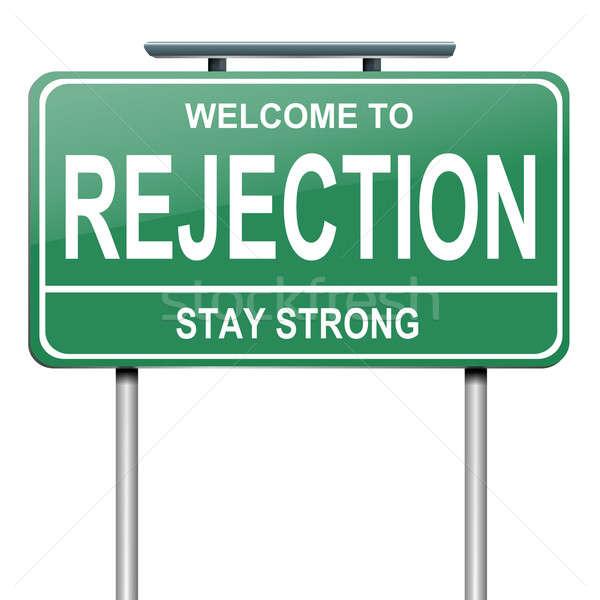 Rejeição ilustração verde branco fundo Foto stock © 72soul
