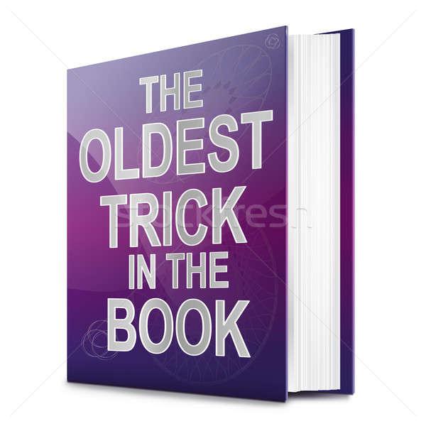 Hile örnek kitap başlık beyaz mavi Stok fotoğraf © 72soul