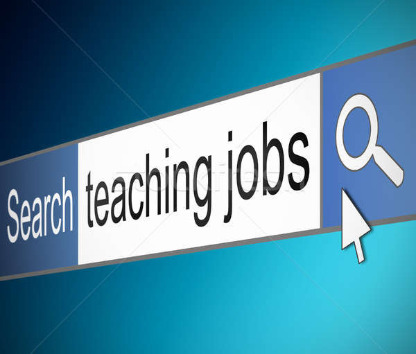 Teaching jobs search. Stock photo © 72soul