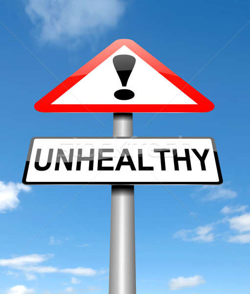 Unhealthy concept. Stock photo © 72soul