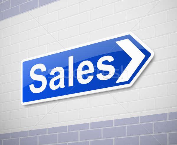 продажи иллюстрация знак промышленности Финансы Сток-фото © 72soul