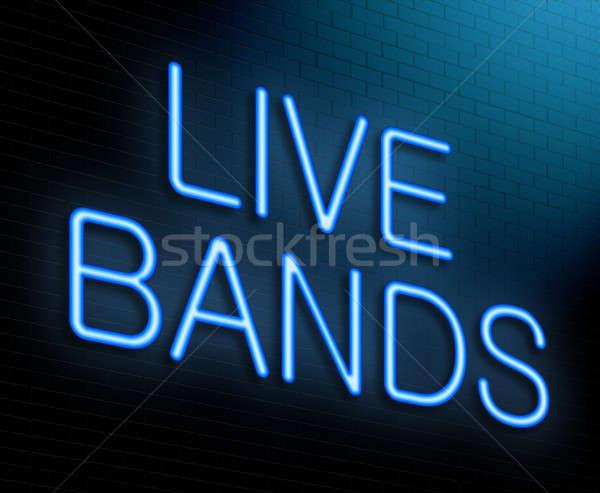 Viver ilustração música concerto Foto stock © 72soul