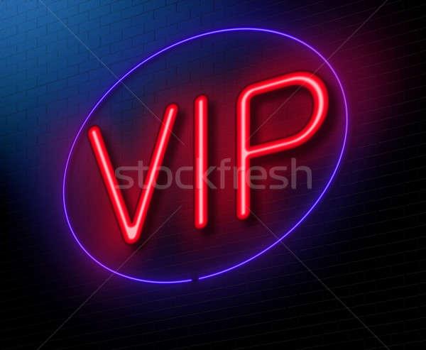 Vip illustrazione blu notte Foto d'archivio © 72soul