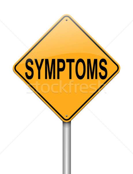 Illustration signe route santé fond signes Photo stock © 72soul