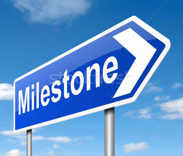 Stock photo: Milestone concept.