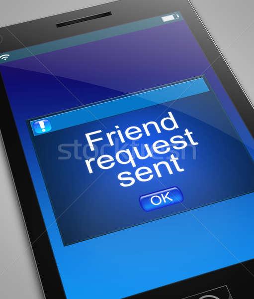 友達 リクエスト 実例 電話 携帯 画面 ストックフォト © 72soul