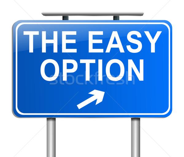 Könnyű opció illusztráció felirat grafikus ötlet Stock fotó © 72soul