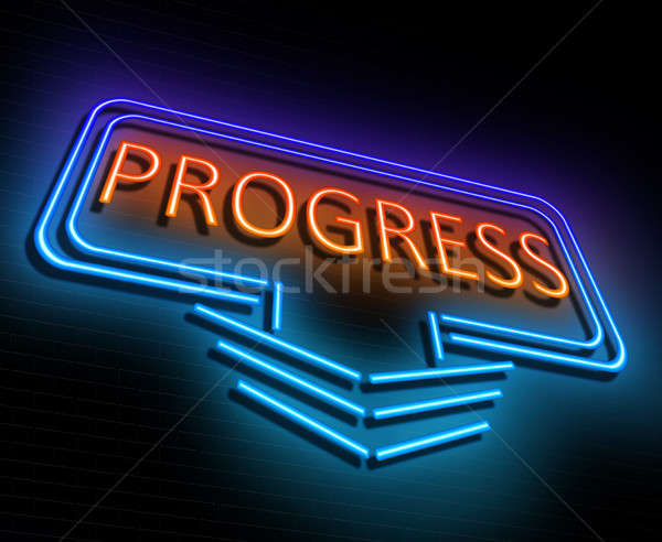 Progress sign concept. Stock photo © 72soul