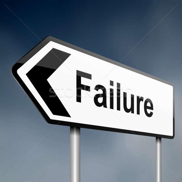 Mislukking illustratie teken post pijl wazig Stockfoto © 72soul
