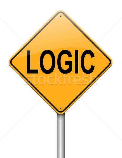 Logika illusztráció útjelzés fehér háttér felirat Stock fotó © 72soul