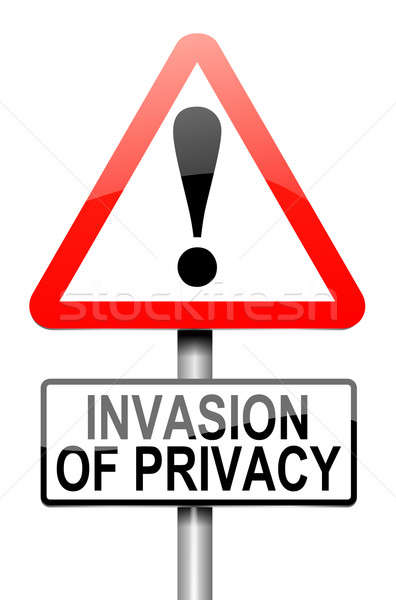 Invasie privacy waarschuwing illustratie witte Stockfoto © 72soul
