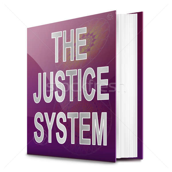 Justice system text book. Stock photo © 72soul