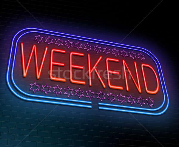 Fin de semana ilustración iluminado luces gráfico Foto stock © 72soul
