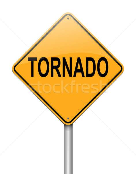 Tornado ilustração assinar tempestade gráfico fundo branco Foto stock © 72soul
