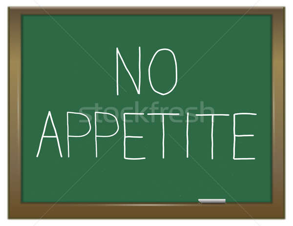 No apetito ilustración verde pizarra educación Foto stock © 72soul