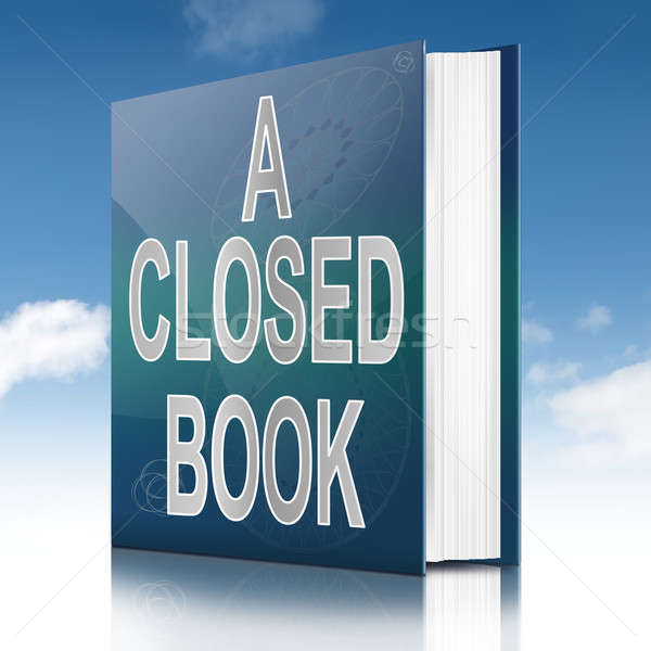 A closed book. Stock photo © 72soul