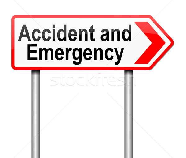 Incidente emergenza segno illustrazione salute Foto d'archivio © 72soul