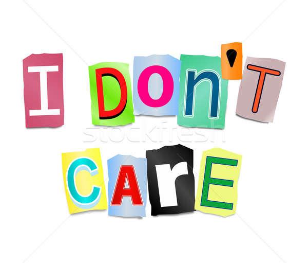 I don't care. Stock photo © 72soul