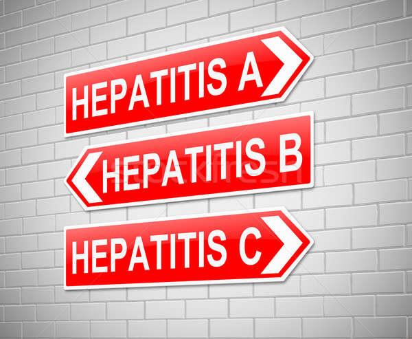 Hepatitis Concept. Stock photo © 72soul