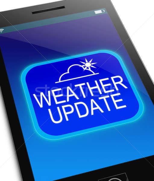 Wetter aktualisieren Illustration Telefon mobile Bildschirm Stock foto © 72soul
