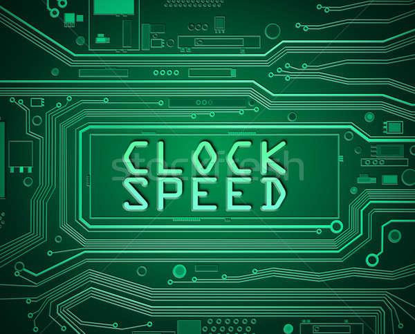 Clock speed concept. Stock photo © 72soul