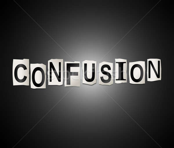 Confusion word concept Stock photo © 72soul