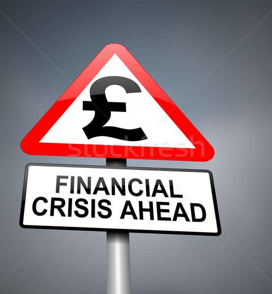Financial crisis warning. Stock photo © 72soul