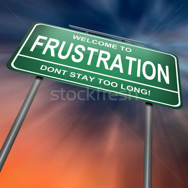 Frustratie illustratie groene dramatisch abstract Stockfoto © 72soul