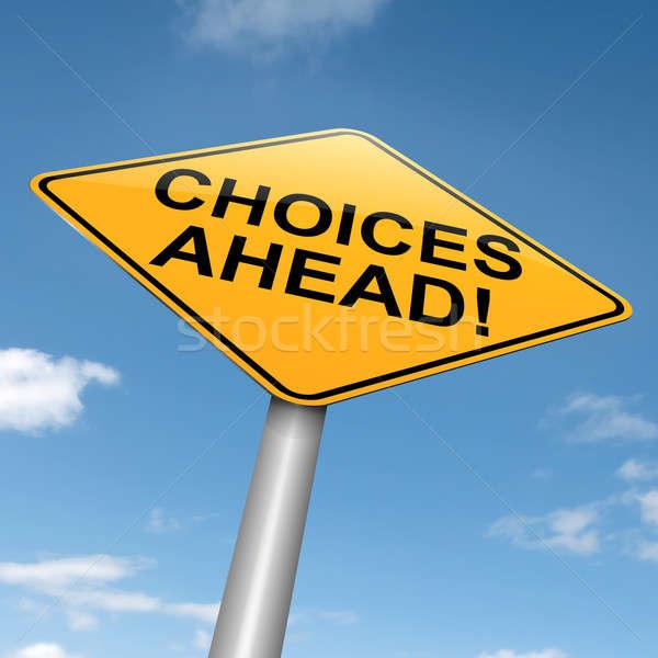 Keuzes illustratie blauwe hemel weg achtergrond Stockfoto © 72soul