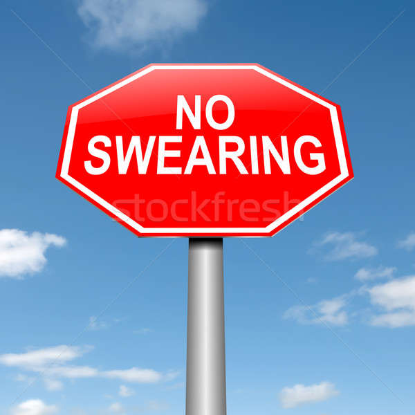 No swearing sign. Stock photo © 72soul