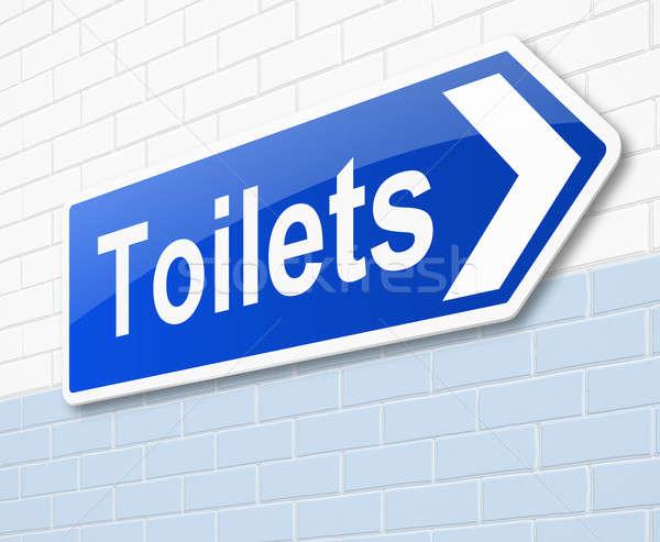 туалет знак иллюстрация стены комнату Сток-фото © 72soul