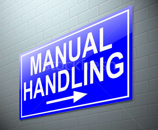 Manual handling concept. Stock photo © 72soul