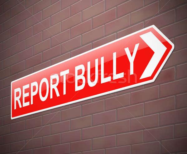 Megfélemlítés felirat illusztráció segítség grafikus ötlet Stock fotó © 72soul