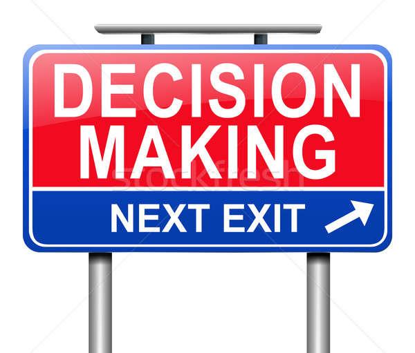 La toma de decisiones ilustración signo fondo blanco gráfico Foto stock © 72soul