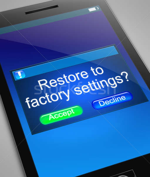 Restore to factory settings. Stock photo © 72soul