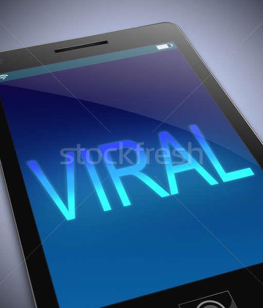 Virale illustrazione telefono business internet tecnologia Foto d'archivio © 72soul