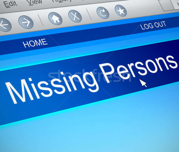 Missing persons concept. Stock photo © 72soul