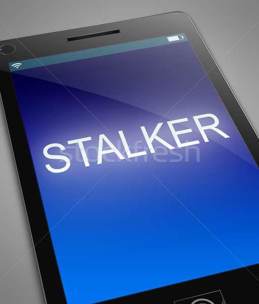 Phone stalker concept. Stock photo © 72soul