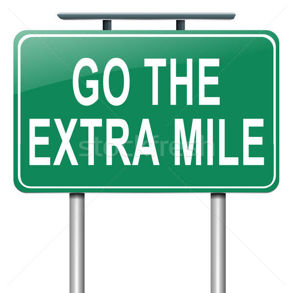 Go the extra mile. Stock photo © 72soul