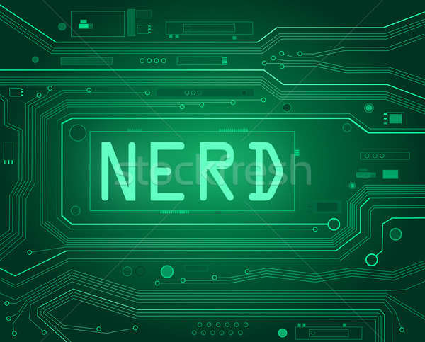 Сток-фото: NERD · аннотация · стиль · иллюстрация · компоненты