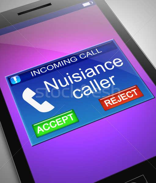 Visitatore illustrazione telefono mobile schermo cellulare Foto d'archivio © 72soul