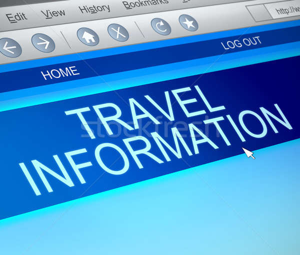 Travel information concept. Stock photo © 72soul