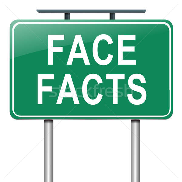 Face facts. Stock photo © 72soul