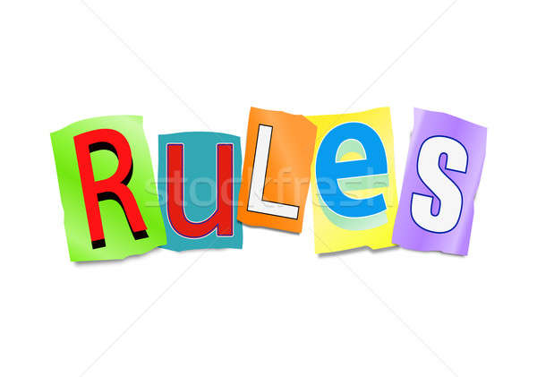 Rules concept. Stock photo © 72soul