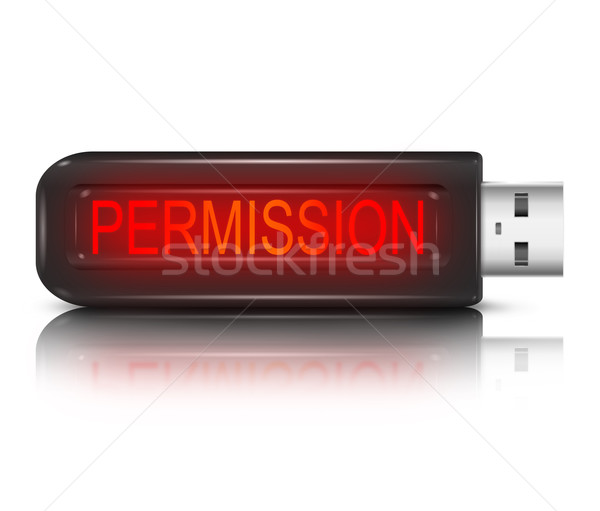 Permission concept. Stock photo © 72soul
