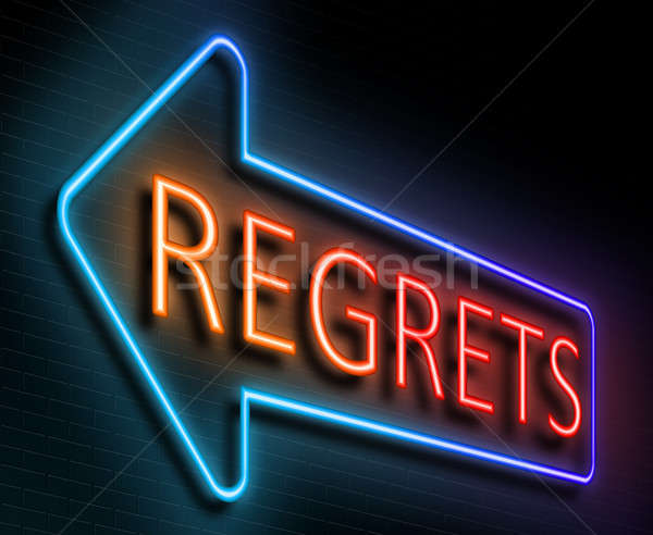 Regrets sign concept. Stock photo © 72soul