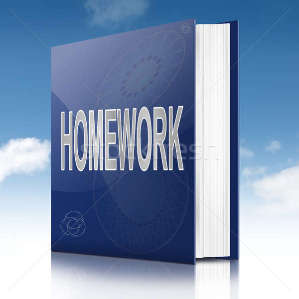 Homework book. Stock photo © 72soul